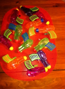 mini water pistols from Veronica September 2013